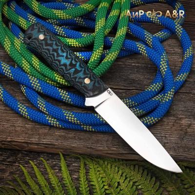 Купить нож Стриж (G10, черно-голубой, каменный век), длина 221 мм. Компания «АиР»